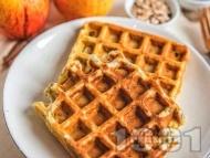Рецепта Гофрети с пълнозърнесто брашно, ленено семе и пшеница